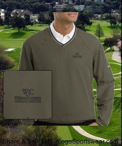 Nike Golf Men's V-Neck Windshirt w/Trimmed Collar Design Zoom